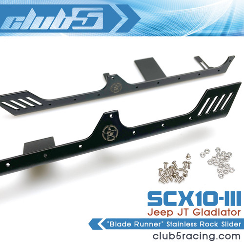 """""""Blade Runner"""" Stainless Rock Slider for Axial SCX10 III Jeep JT Gladiator"""