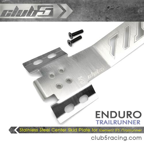 Stainless Steel Center Skid Plate for Element Enduro IFS / Trailrunner