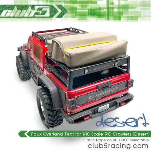 Faux Overland Tent for 1/10 Scale RC Crawlers ( Desert )