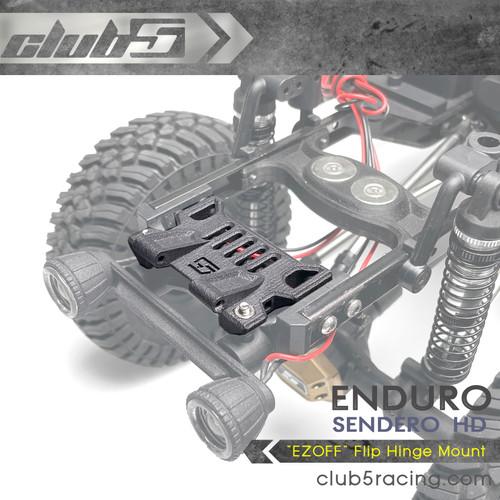 """EZOFF"" Flip Hinge Mount for Element Enduro Sendero HD"