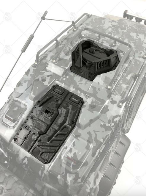 Roof Hatch / Guard Rail + Rear Hatch Door for TRX-4 Tactical Unit ( V2 )