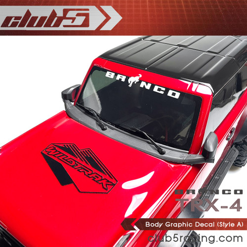 Body Graphic Decal for Traxxas TRX-4 2021 Ford Bronco ( A )