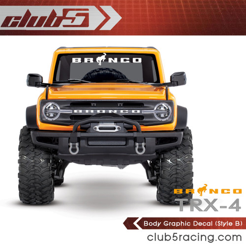 Body Graphic Decal for Traxxas TRX-4 2021 Ford Bronco ( B )