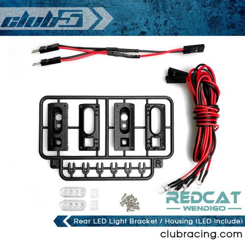 Tail Light Housing w / LED for Redcat Wendigo