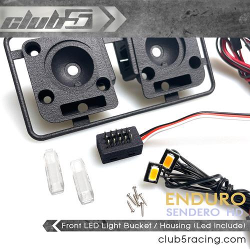 Front LED Head Light / Blinker Bucket for Element Sendero HD ( 6V LED Included )