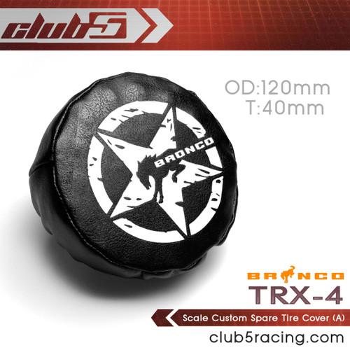 Scale Custom Spare Tire Cover for Traxxas TRX-4 2021 Bronco