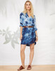 Long Cuffed Sleeve Tiedye Shirtdress