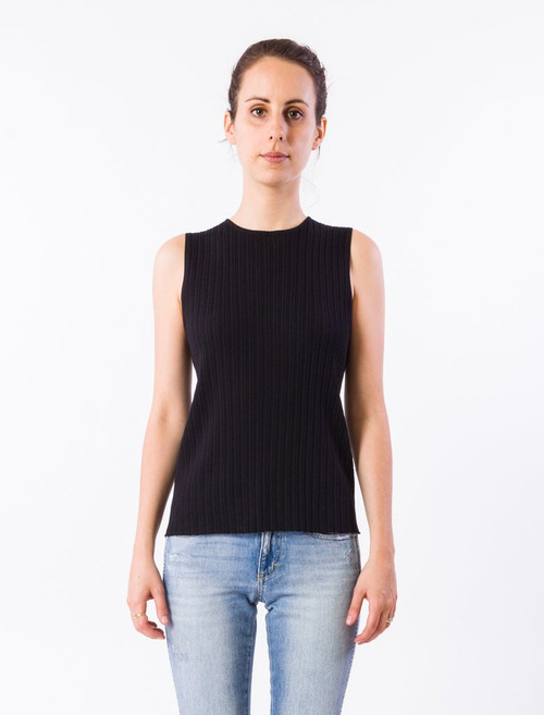 Crew Neck Sleeveless Gitane Top