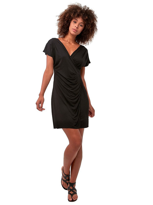V-Neck Drape Dress