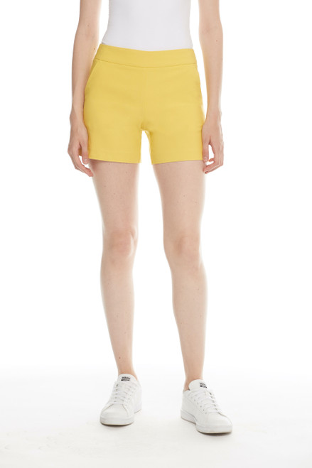 Pull-on Solid Color Techno Shorts