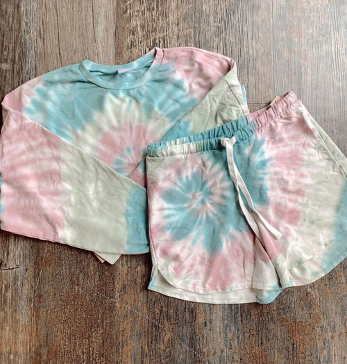 Tie-Dyed Shorts
