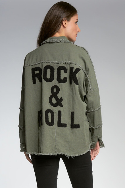 Graphic Distressed Jacket