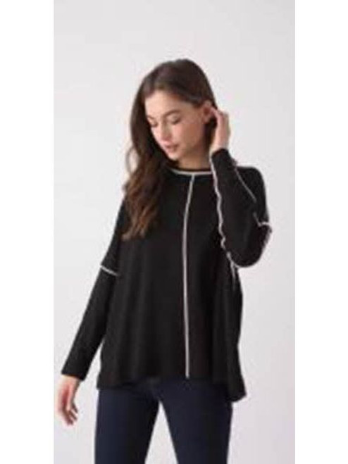 Boxy Tipped Pullover