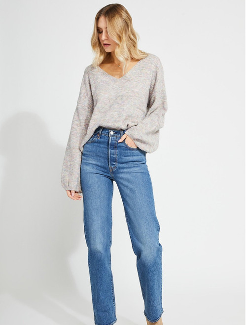 Mayer V Neck Bell Sleeve Sweater