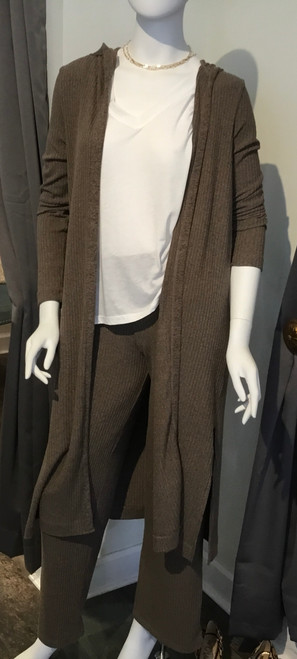 Wide Leg Ribbed Bottoms