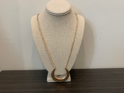 Hammered Horn Bead Necklace