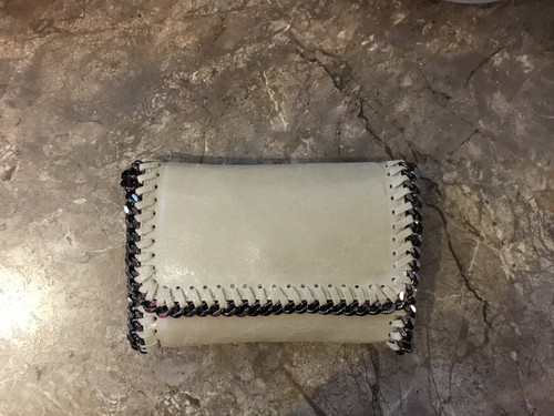 Ivory Leather Chain Crossbody