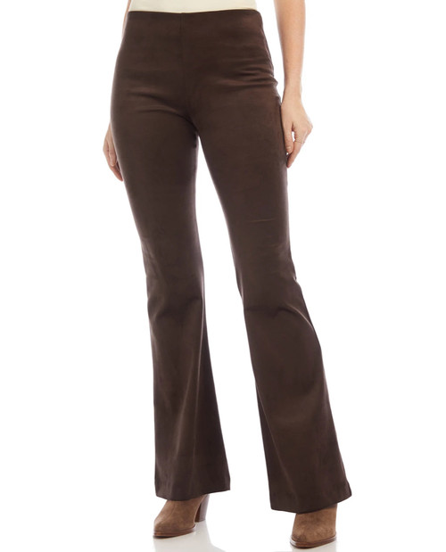 High Waist Faux Suede Bootcut Pant