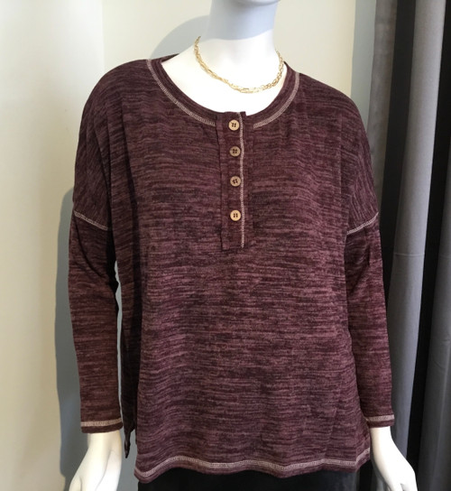 Front Button Knit Top