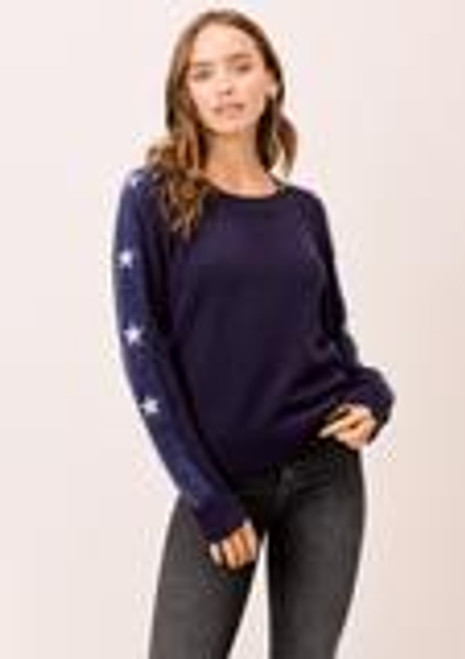 Crew Neck Sweater With Star Detail
