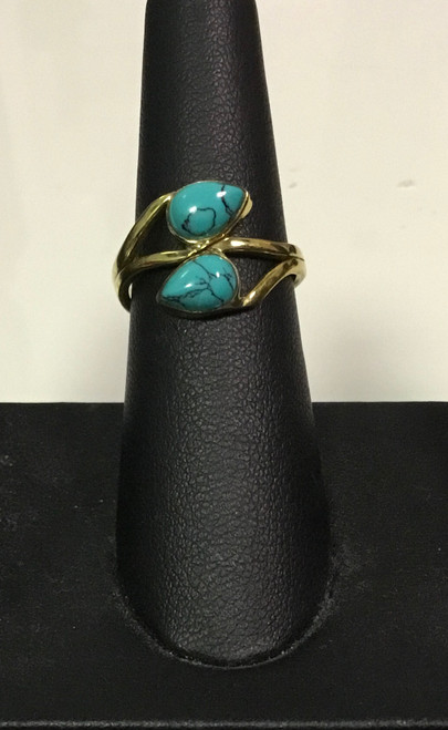 Teal Double Ring