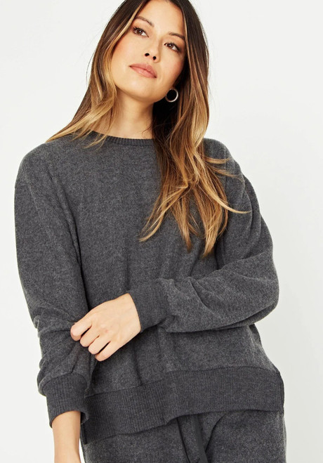 Mawbee Side Slit Crew Pullover