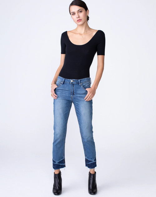 Hayden Crop Raw Hem Denim