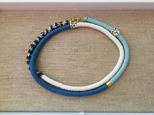 Multicolor Beaded Necklace Long