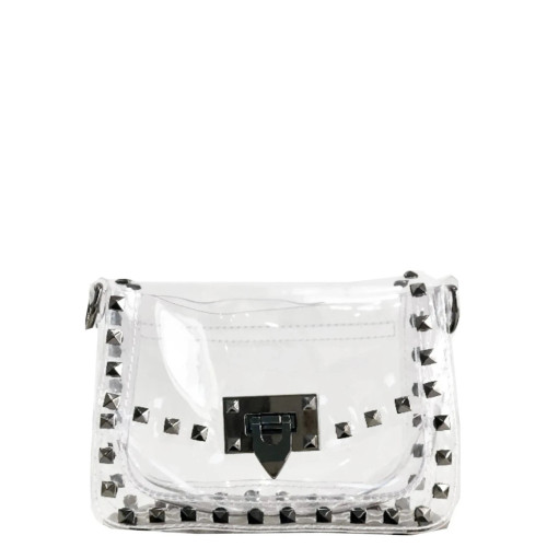 The Everly Clear Bag Gunmetal Hardware