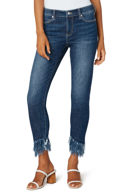 Crop Skinny With Double Fray Hem