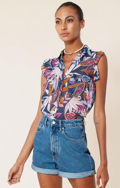 Delta Button Up Top XS