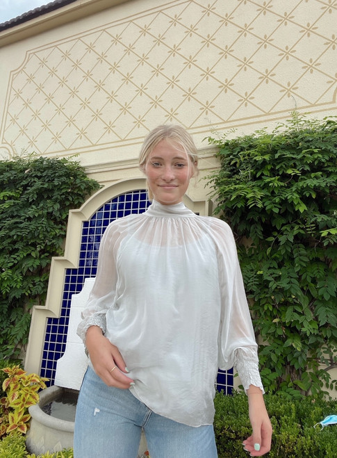 Fatima High Neck Blouse One Size