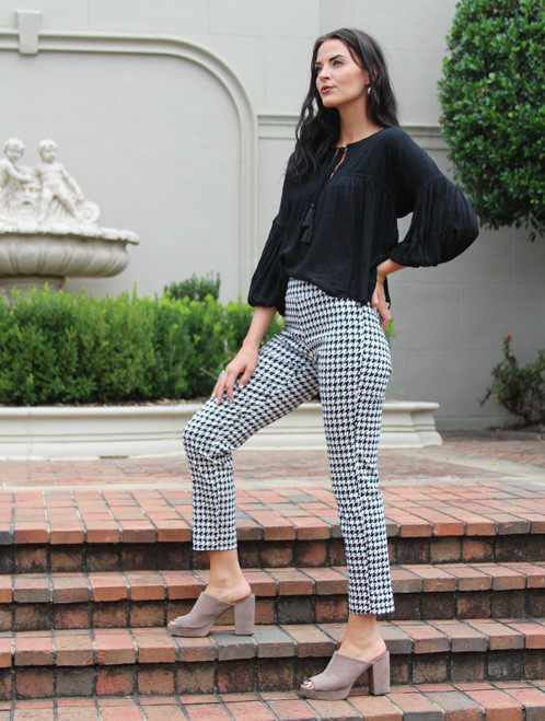 Gingham Pull on Pant
