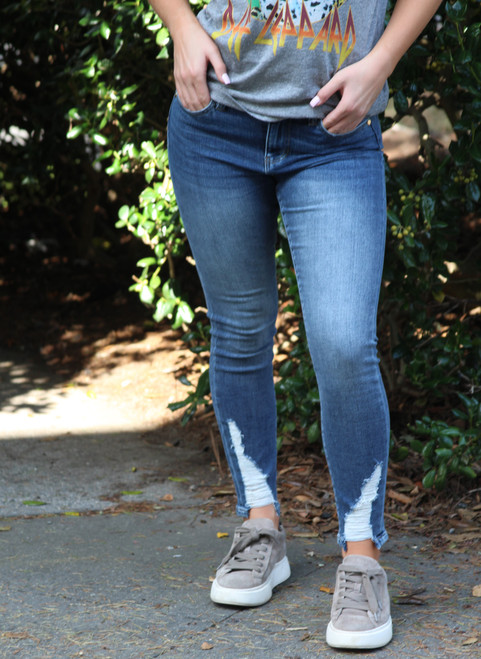 Abby Distressed Ankle Jeans