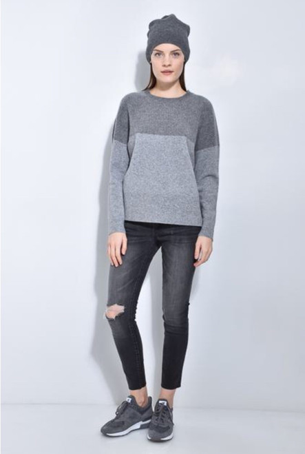 Wide Rib Shoulder Sweater