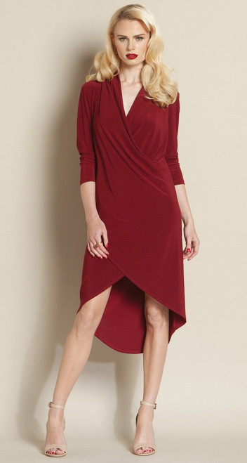 Tulip Hem Crossover Soft Knit Dress