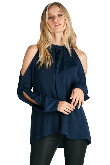 Elan Cold Shoulder Blouse