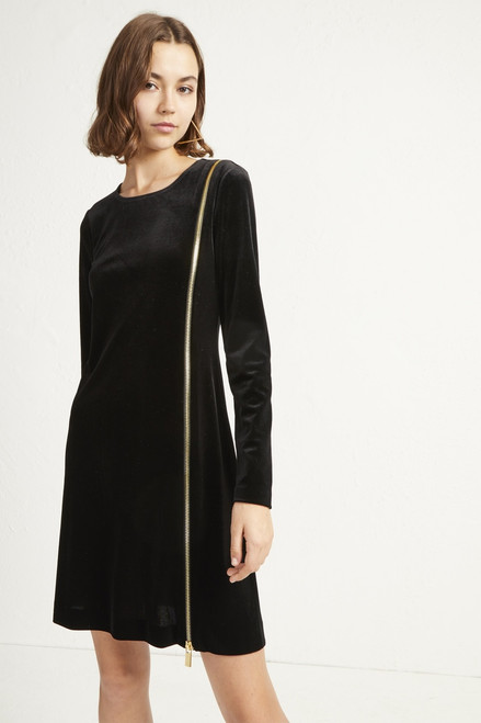 Zella Aurora's Velvet Jersey Zip Dress