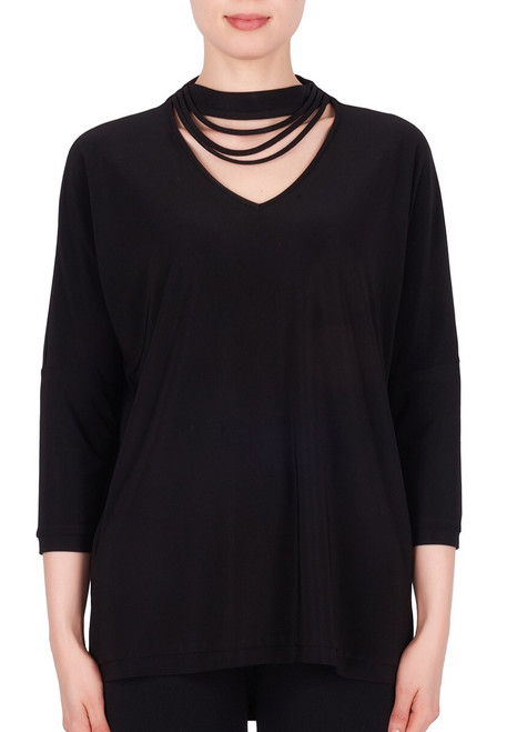 Banded Neck Top