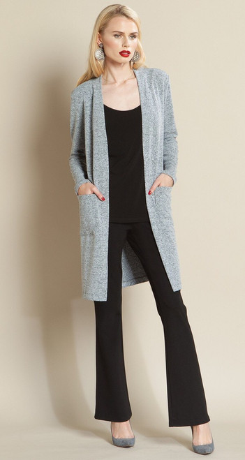 Soft Sweater Knit Long Sleeve Modern Cardigan