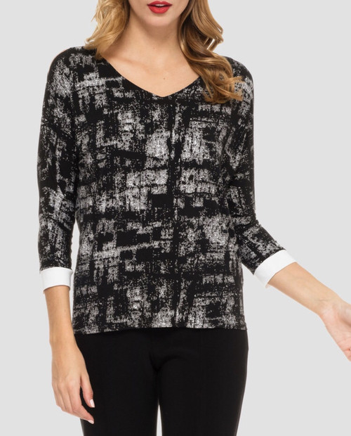 Black & White Abstract Top
