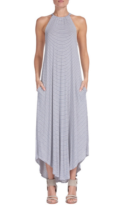 High Neck Halter Maxi Dress