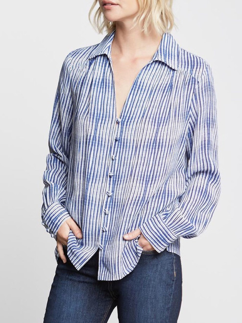 Stripe Print Long Sleeve Shirt