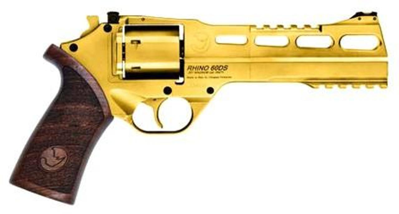 "CHIAPPA RHINO 60DS 6"" Gold CALIFORNIA LEGAL - .357 Mag"