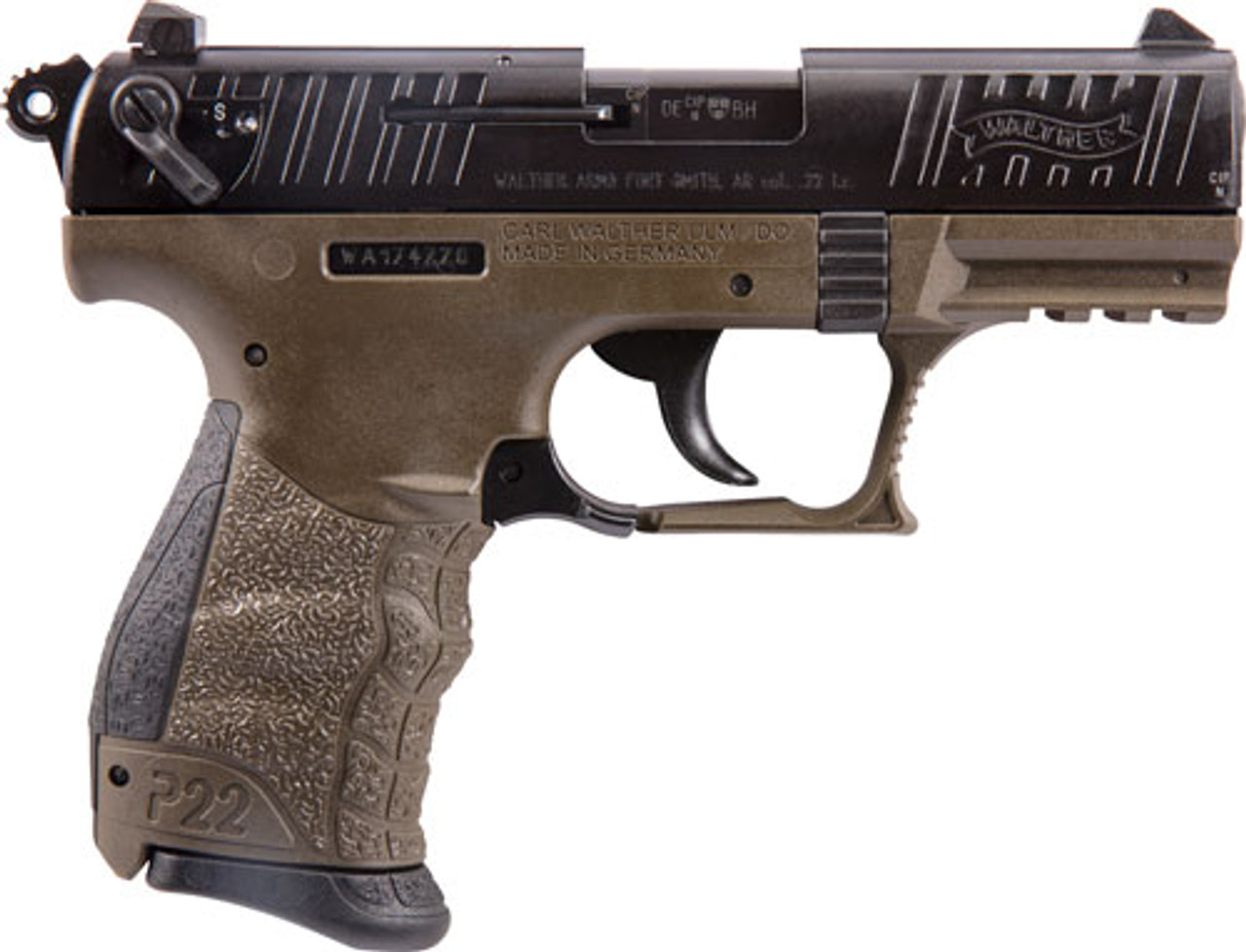 Walther P22 CALIFORNIA LEGAL - .22LR - Military Green