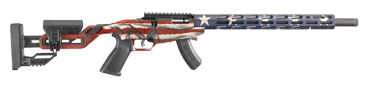 Ruger Precision Rimfire Rifle CALIFORNIA LEGAL - .22 LR - American Flag