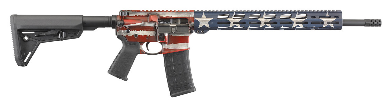 Ruger AR-556 MPR CALIFORNIA LEGAL - .223/5.56 - American Flag