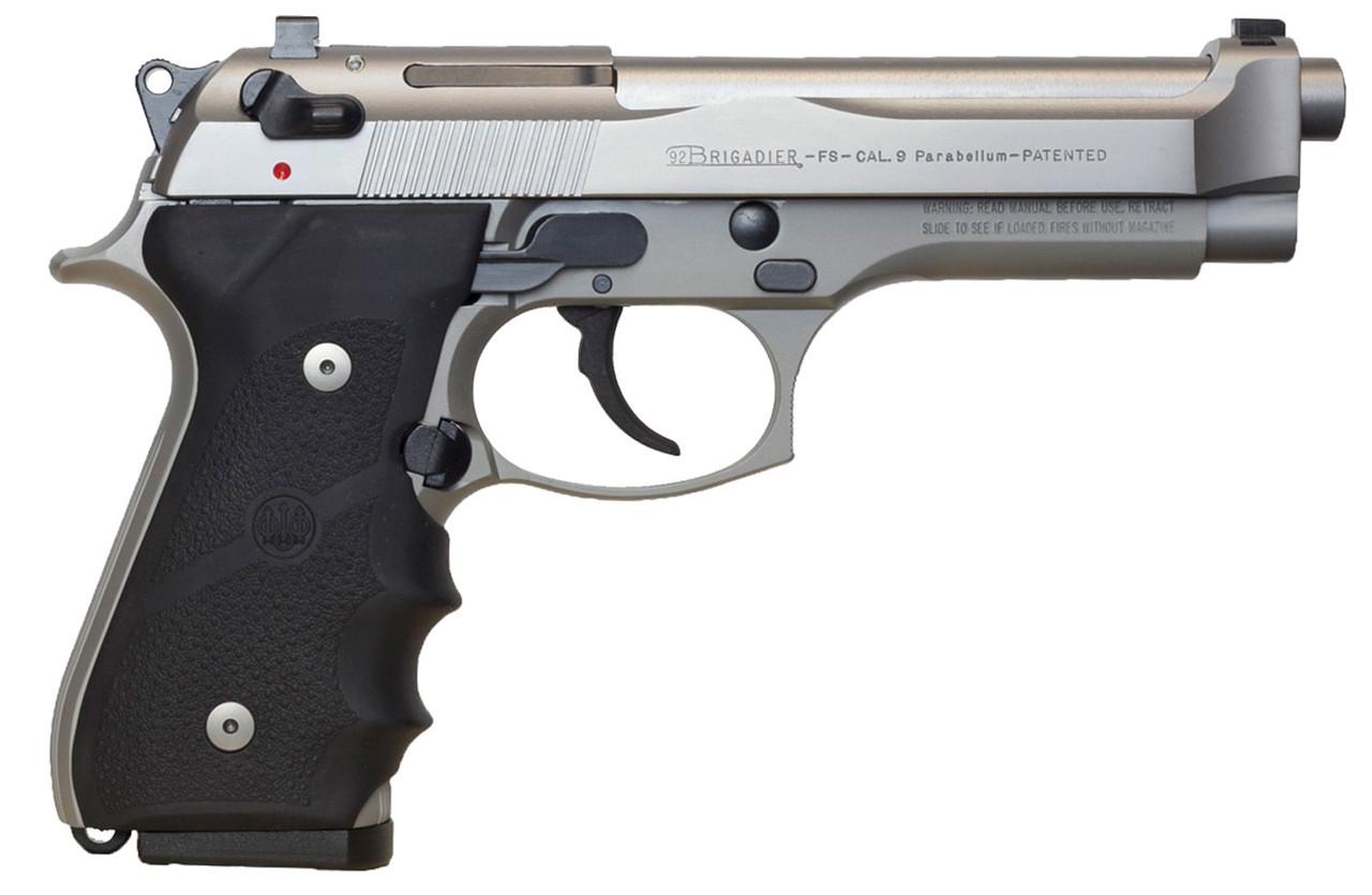 Beretta 92 FS Brigadier Inox Stainless Steel CALIFORNIA LEGAL - 9mm