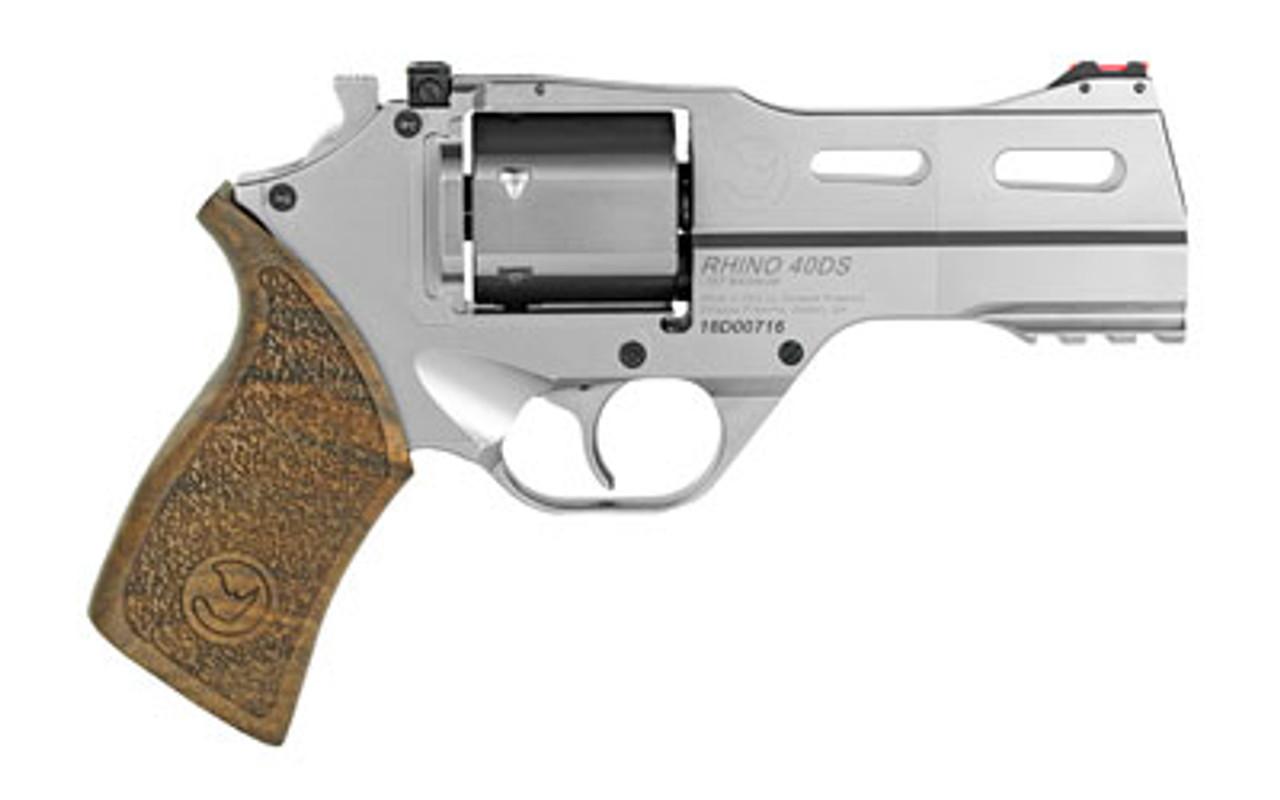 "Chiappa Firearms Rhino Nickel 4"" Revolver CALIFORNIA LEGAL - .357 Mag"