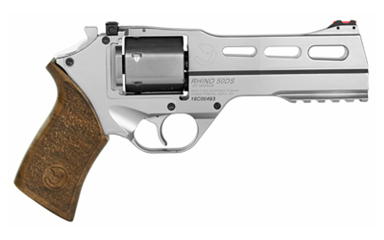 "Chiappa Firearms Rhino Nickel 5"" Revolver CALIFORNIA LEGAL - .357 Mag"